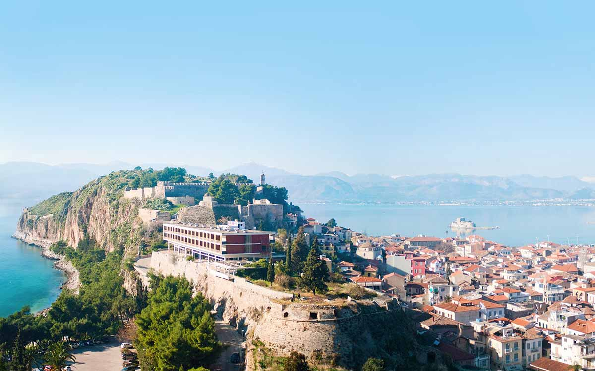 The general vew of Nafplio city in Peloponnese