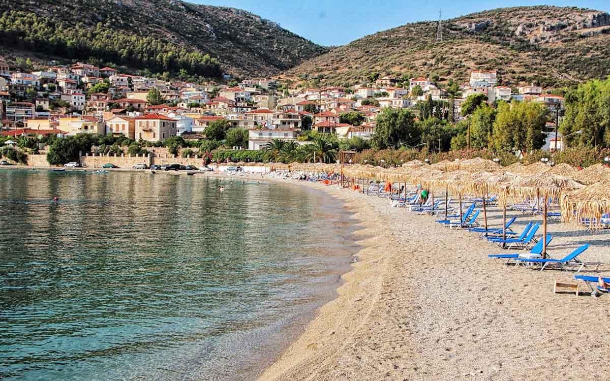 Public beach in Kiveri village, Nafplio, Peloponnese