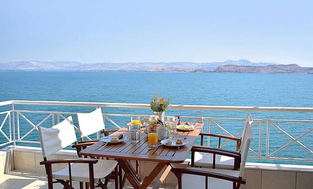 Vue sur la mer appartements de vacances Meli Kiveri Nauplie