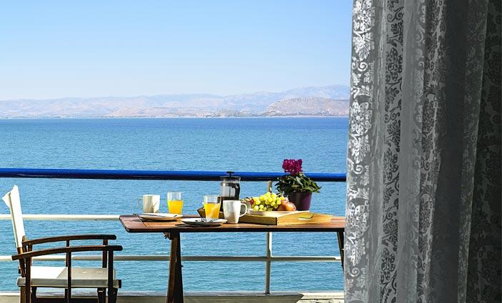 studio apartments kiveri, Meli, sea view from balcony