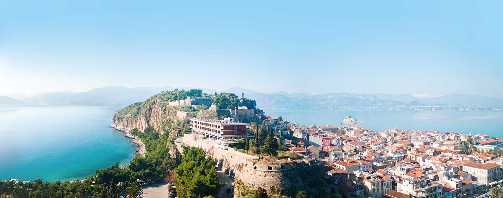 General view from Nafplion Peloponnese Greece