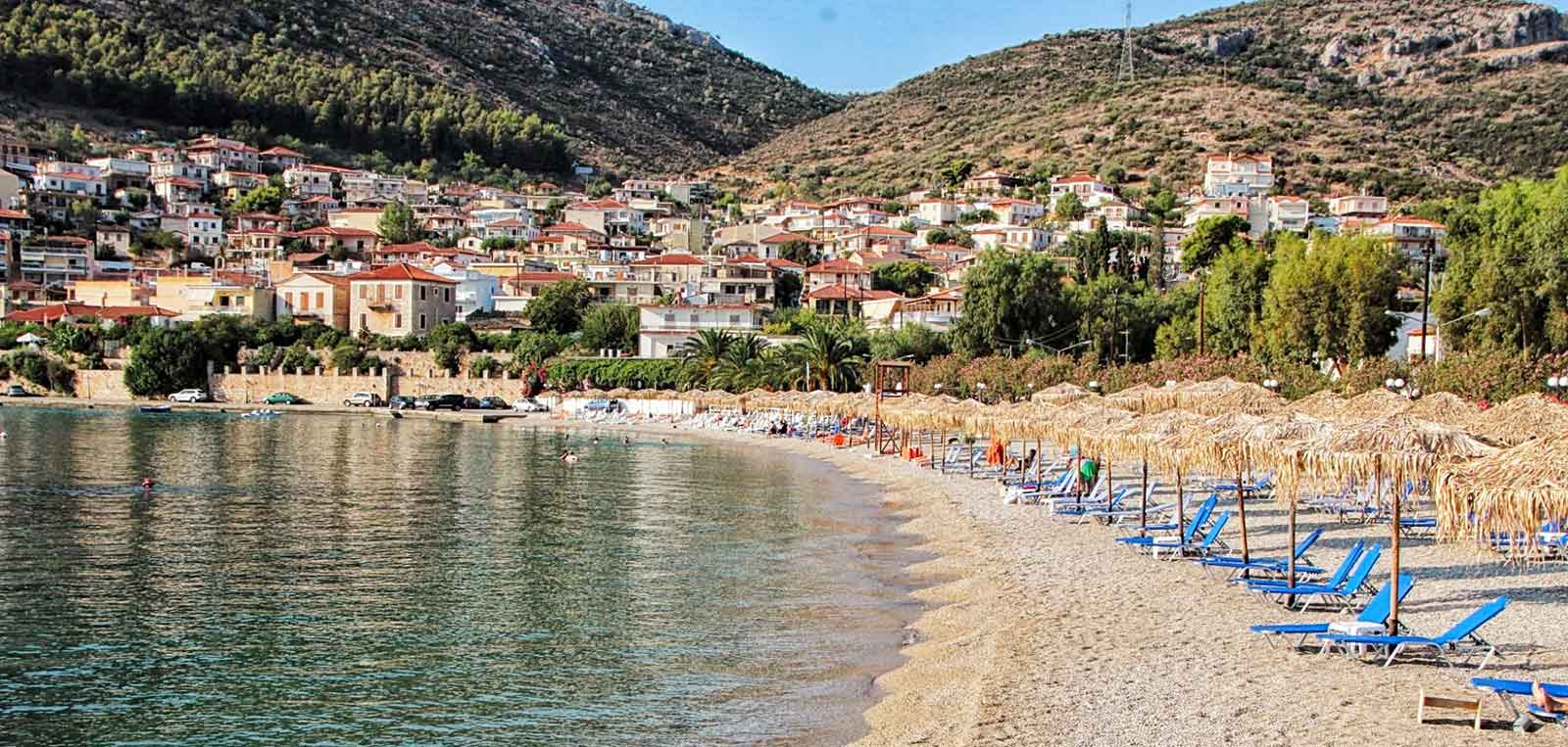 Publick beach in Kiveri village close to Nafplion
