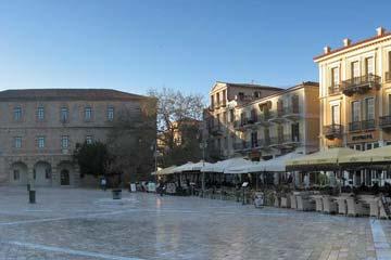La place Syntagma Nauplie