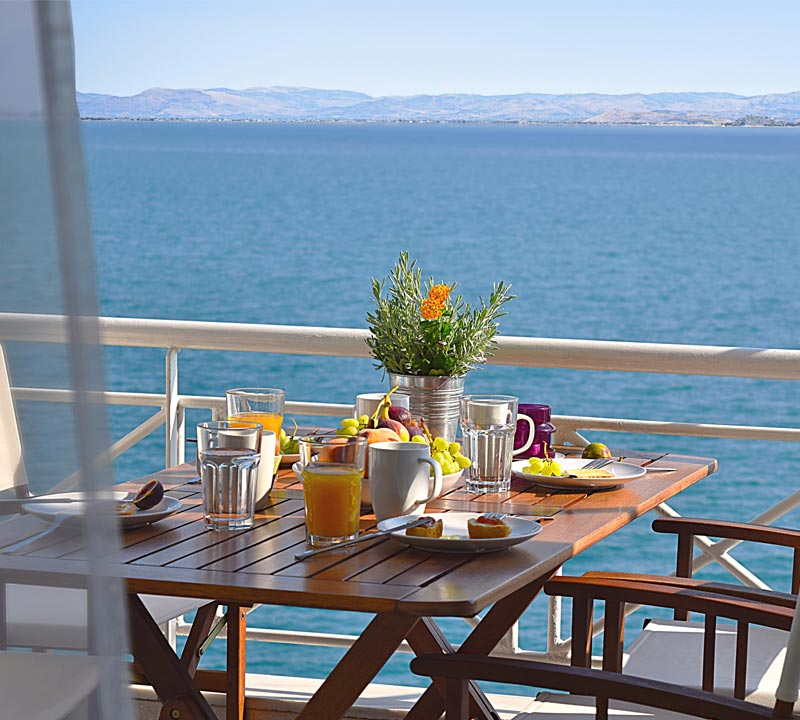 Meli holiday waterfront accommodation, Nafplio, Kiveri, Greece