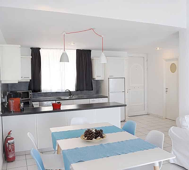 Meli Holiday loft apartment kitchen Kiveri Nafplion