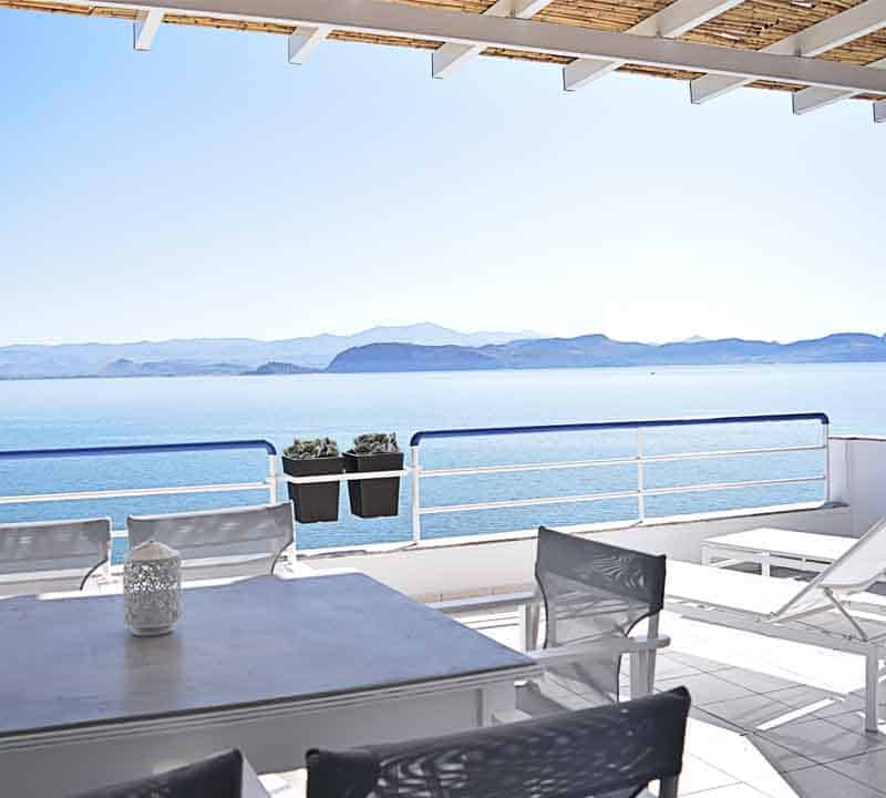 Two bedroom Apartment- Holiday Rental- Nafplion- Kiveri- View from Balcony