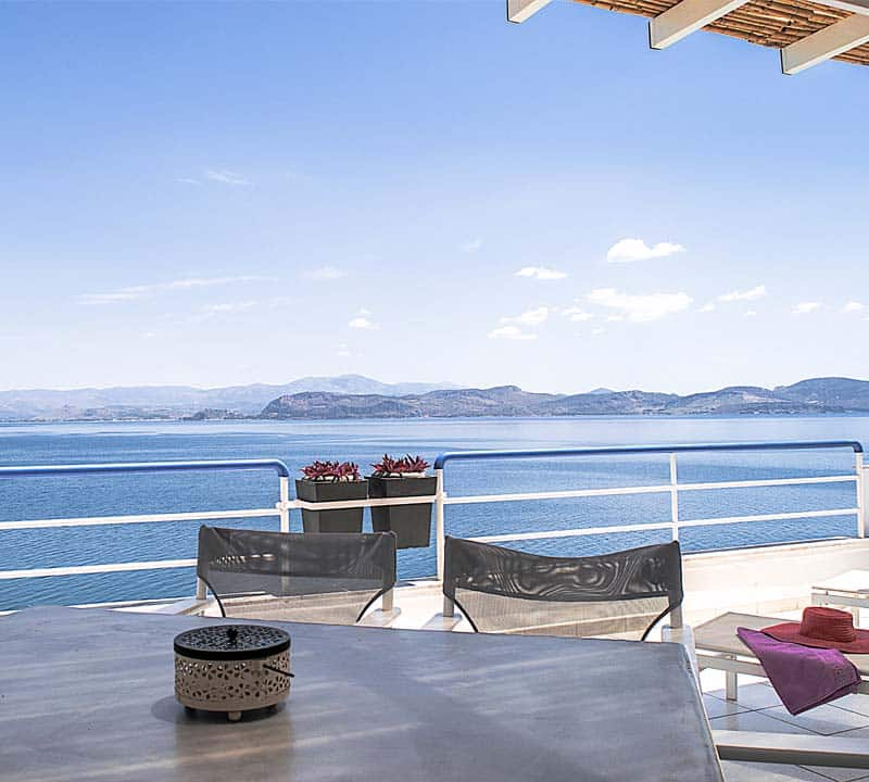 Luxury sea view holiday family apartment, Kiveri, Nafplio, Peloponnese