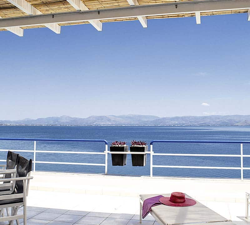 Luxury waterfront holiday accommodation, Nafplio, Kiveri , Peloponnese